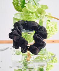 Floral  Scrunchie Small(Black)
