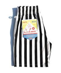 """COOKMAN""  Chef Short Pants[Wide Stripe/Black]"
