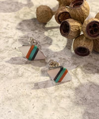 """ZUNI"" Inlay Diamond Earring"