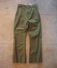 """RUMBLE RED""Military Flare Pants"