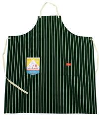 """""""COOKMAN"""" Long Apron [Stripe.D/Green]"""