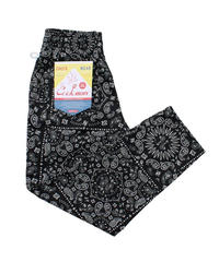 """COOKMAN"" Chef Pants[Paisley/Black]"