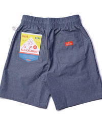 """COOKMAN""Chef Short Pants[Chambray Light Blue ]"