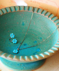 """ZUNI JEWELRY"" Inlay Turquoise Flower Ring"