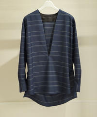 (syoul別注) un/unbient Wool Silk Pola pullover