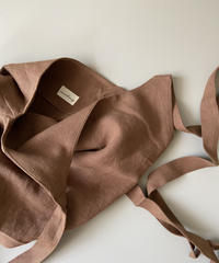 apron onepiece linen brown