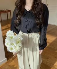 《予約販売》triple ribbon blouse (3color)