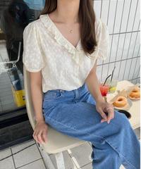 《予約販売》aimer frill blouse
