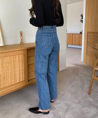 《予約販売》wide straight denim pants (3color)