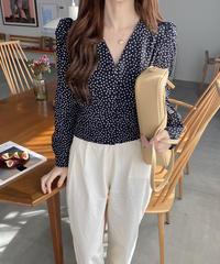 《予約販売》mini flower puff blouse (2color)