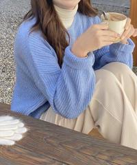 《予約販売》mohair round knit (3color)