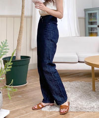 high waist linen summer denim (2color)