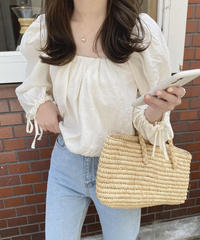 《予約販売》witty ribbon  blouse (2color)