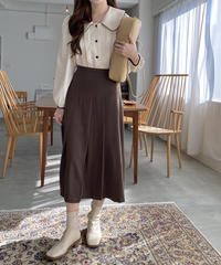 《予約販売》front pleats long skirt (2color)