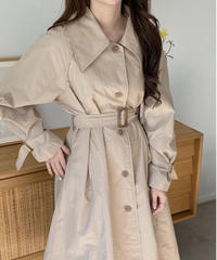 《予約販売》big collar single trench coat