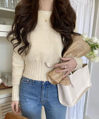 《予約販売》mamonde cropped knit (3color)