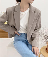 front button less basic jacket (2color)