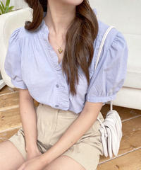 frill cotton blouse