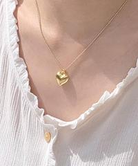 《 予約販売》 pukkuri heart necklace (2color)