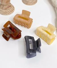 marble acryl hair clip (4color)