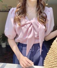2way ribbon blouse (4color)