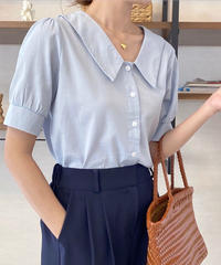 half collar blouse