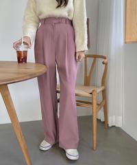 《予約販売》flat pin tuck slacks (3color)