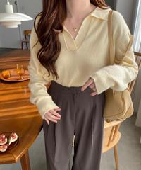 《予約販売》angola collar knit (3color)