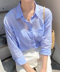 basic sheer shirt (3color)