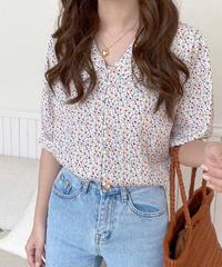 mini flower perl blouse