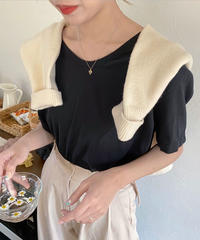 u neck tee shirt (2color)