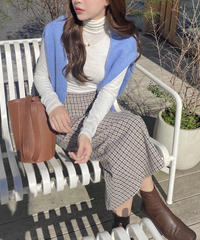 《予約販売》h line check long skirt