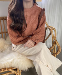 《予約販売》low gauge round knit (3color)