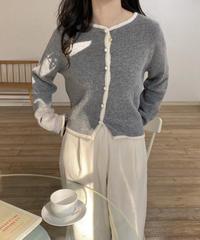 《予約販売》ramb wool bicolor cardigan (2color)