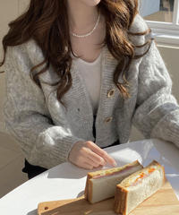 《予約販売》cropped square button cardigan (3color)