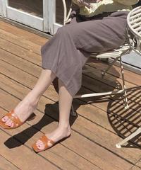 linen front tuck skirt