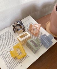 《予約販売》square colour hair clip (6color)