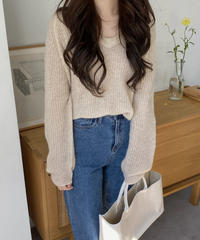 《予約販売》alpaca v neck knit (3color)