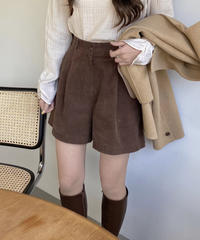 《予約販売》corduroy half pants (3color)