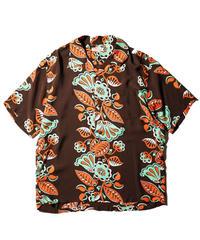 """Sun Surf / Rayon Hawaiian Shirt """"Hawaiian Ivy"""" / Brown"""