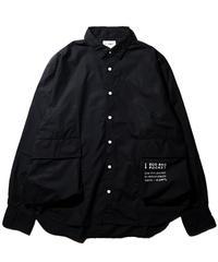 H-UNIT®︎ / Typewriter ecobag long sleeves shirt / Black