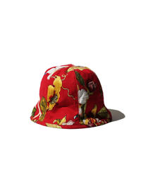 Brown Brown /  Bucket Hat  / Red
