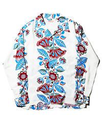 """Sun Surf / L/S Rayon Hawaiian Shirt """"Hawaiian Ivy"""" / White"""