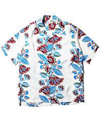 """Sun Surf / Rayon Hawaiian Shirt """"Hawaiian Ivy"""" / White"""