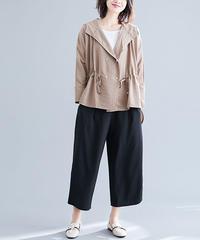 綿麻    じゅんいろ     長袖     コート