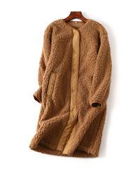 秋冬 カシミヤ混素材大人可愛いコート