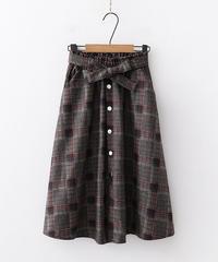 チェック||中厚||スカート
