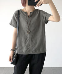 Vネック||着痩せ ||Tシャツ