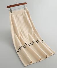 秋と冬    ウール    フリルギャザー    スカート