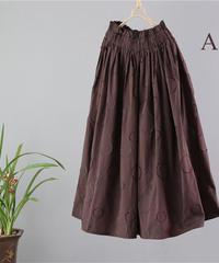 ベルト紐  ゆったり  リネン スカート